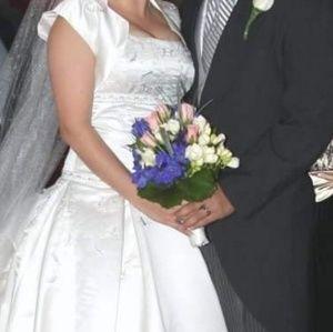 Dresses & Skirts - Hand made Italian silk designer wedding gown